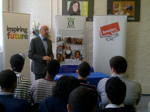 Lord Young, the Prime Minster's Enterprise Adviser, to the William Morris Sixth Form in London