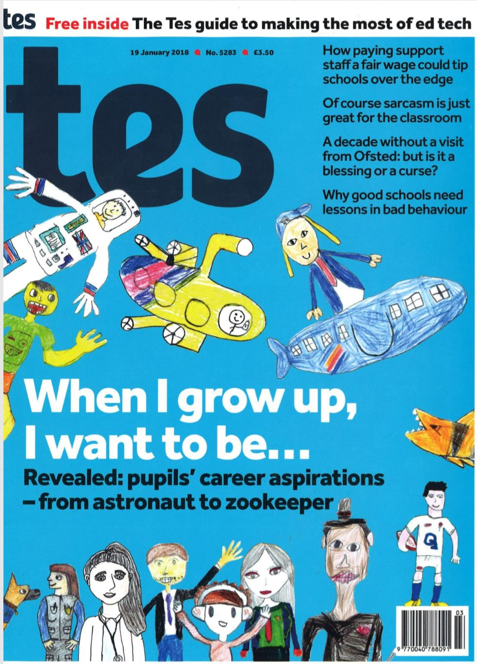 Read Tes article on Drawing the Future