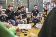 World Economic Forum: 50 WEF delegates talk to the young people of Davos to mark the 50th anniversary