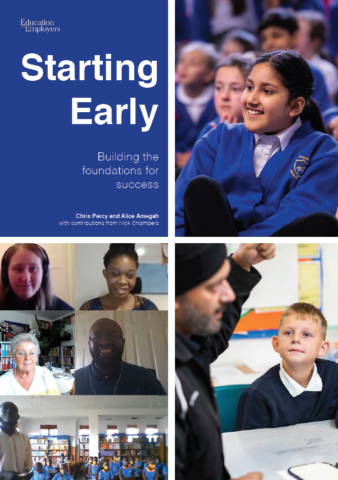 Starting Early report cover with images of children and volunteers